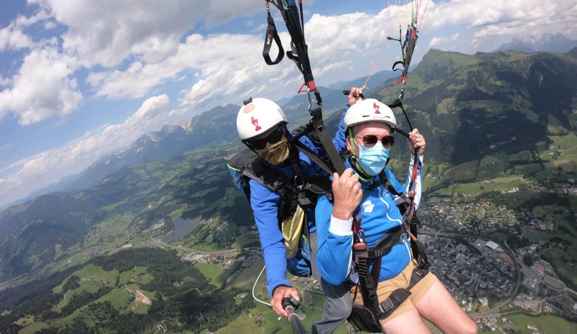 Paragliden in Kitzbühel