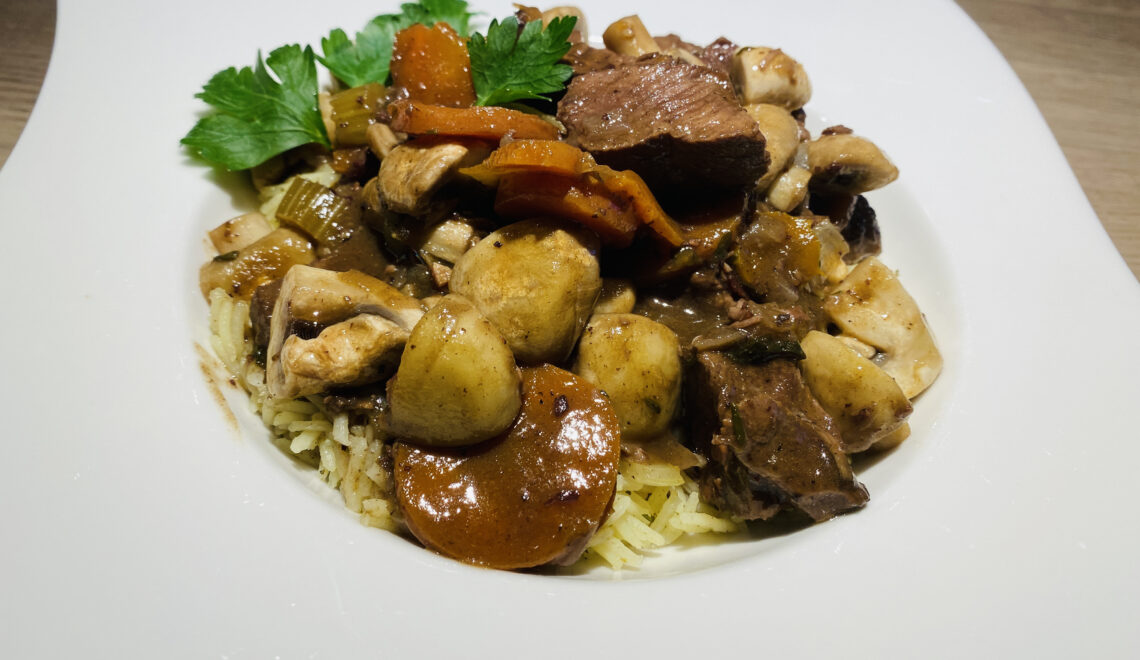 Beef Bourguignon (Sous Vide)